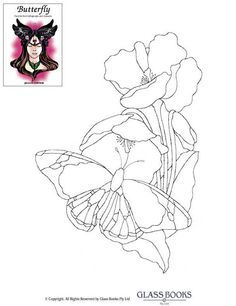 Трафареты, эскизы и шаблоны витражей — Эскизы витражей Glass Books — Эскиз витража 1