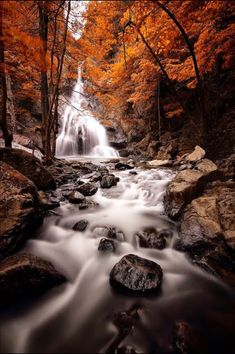 Autumn Waterfall, a river or stream always made my dream. Source plus.google.com