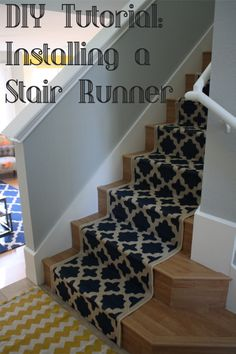 DIY Tutorial: Installing A Stair Runner @Spoiles McGee