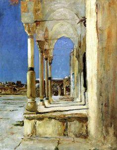 John Singer Sargent, Jerusalem, Oil on canvas Land Art, John Singer Sargent Watercolors, Jean Leon, Sargent Art, Beaux Arts Paris, Monet, American Artists, Art And Architecture, Landscape Paintings