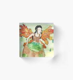 After the Rain Acrylic Block Autumn Nature, Autumn Art, Autumn Leaves, Autumn Witch, Autumn Illustration, Green Palette, Horror House, Halloween Celebration, Witch Art