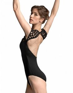 Mirella by Capezio - Cage Cap Sleeve Leotard in Black or Plum... now in stock at Melbourne Dancewear... get it while it lasts!