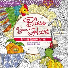 bless your heart adult coloring book favorite southern s https