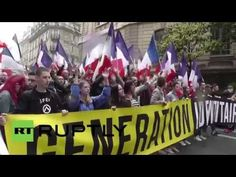 Generation Identitaire March the streets. Stop Muslim colonialism of Europe.