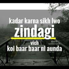 Ł.... Punjabi Quotes, Hindi Quotes, Sad Quotes, Quotations, Qoutes, Love Quotes, Motivational Quotes, Love Shayri, Punjabi Poetry