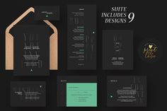 Wedding Invite Suite - Blacktastic by Print The Love Boutique on @creativemarket