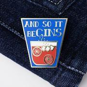 And So It Begins, Hard Enamel Pin, Lapels, Hanging Out, Walks, Totes, Sunshine, Backpacks, Jacket