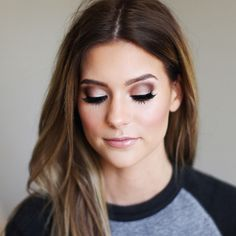 amazing wedding makeup look - love the smokey eye and lush lashes!