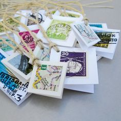 20 map & travel themed gift tags made with original by Marmalime #ecoetsy