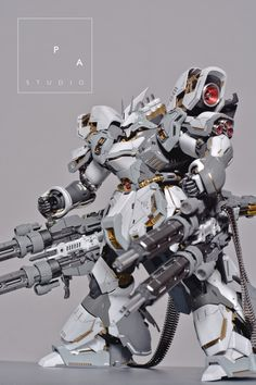 "gundamexousia: Title: Sazabi ""der Schnee + Quad Gatling Gun"" Modification Modeler: PA StudioModel Type: Metal parts, custom panel line, custom color scheme, detailingKits Used: MG 1/100 Sazabi ver. KaAbout the Kit:""I am totally inspired by ihaveyen's Snow Sazabi. So, i decided to make my own version based on his sazabi. I added some custom panel line to enhance the complex look of sazabi ver. ka. I did some color separation too for the armor and frame"" Like this kit? Get it at Amazon!..."