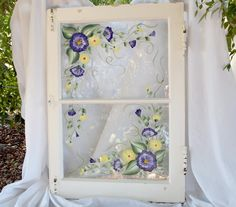 Hand Painted Shabby Chic Window by TheBeautifulBoutique on Etsy, $75.00