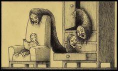 3 polegadas de pesadelo: as ilustrações horrorosas de John Kenn