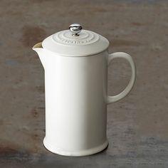 Le Creuset Café White Stoneware French Press   Williams-Sonoma