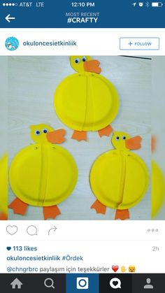 Paper plate duck