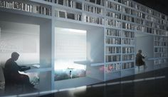 Marina Abramovic Institute OMA with Perfect Architecture in library