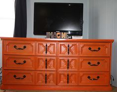 Before and After: Dresser to TV stand