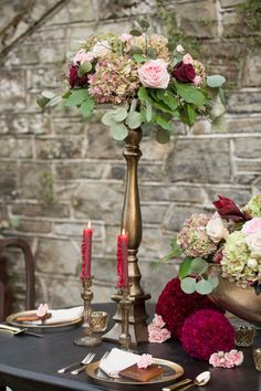 Romantic & Elegant Red Wedding Ideas via TheELD.com | Amberlee Christey Photography