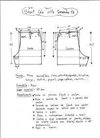 esquema de modelado corta alta cintura del tamaño 46.