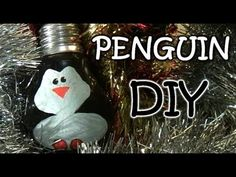 Homemade Christmas Ornaments - Penguin from Light Bulb - YouTube