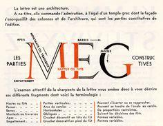 """Hey! It's my name! - """"La lettre est une architecture."""" From René H. Munsch, """"L'écriture et son dessin"""", Paris 1948"""
