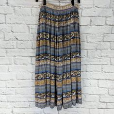 fd6f4a82f48 Coldwater Creek Long Prairie Summer SKIRT Peasant Boho Size Large Sweep