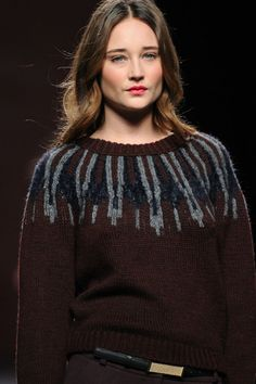 Sita Murt F/W '13 | love the southwest/aztec feeling to the yoke pattern as well as the colours and textures used