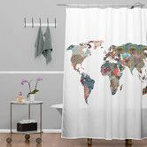 Found it at Wayfair - Bianca Green Louis Armstrong Told Us So Extra Long Shower Curtain
