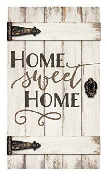 Graham Dunn Home Sweet Home White Distressed 18 x 32 Inch Solid Pine Wood Barn Door Wall Plaque Sign Old Barn Doors, Wood Doors, Distressed Wood Wall, Engraved Wood Signs, Wood Wall Decor, Art Decor, Home Decor, Pallet Wall Art, Diy Home Decor
