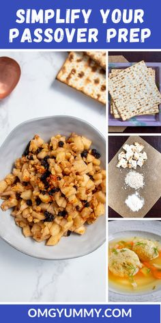 Passover recipes and resources for creating a simple seder menu for a traditional passover meal or a quick chametz-free dish anytime. Includes recipes for small batch charoset matzo ball soup kugels chocolate covered matzo and so much more. Passover Recipes, Jewish Recipes, Passover Meal, Kosher Recipes, Cooking Recipes, Meal Recipes, Seder Meal, Matzo Meal, Holiday Recipes