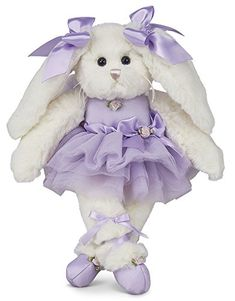 169330cacfd Twirlina Ballerina Bunny from the Bearington Bears Collection is an  adorable plush white rabbit. This plush bunny is wearing a beautiful purple  ballerina ...