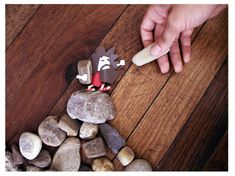 """""""The Ten Commandments""""-Using Rocks And Paper To Illustrate a Very, Very Old Story"""