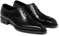 $950, Black Leather Oxford Shoes: Kingsman George Cleverley Leather Oxford Shoes. Sold by MR PORTER. Click for more info: https://lookastic.com/men/shop_items/307804/redirect