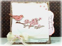 card for the Hope You Can Cling To pink critters challenge Homemade Greeting Cards, Greeting Cards Handmade, Spring Birds, New Beginnings, Cardmaking, Card Ideas, Purpose, Projects To Try, Shabby Chic