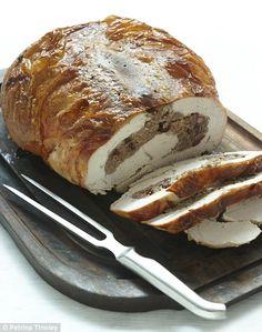 Nigella Lawson's - Turkey breast stuffed with Italian sausage and Marsala-steeped cranberries {via Nigella's Italian Christmas}