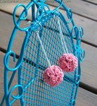 Rose Ball Earrings