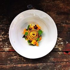 Zucchini with mustard flavors and herbs by @tonikostian #TheArtOfPlating