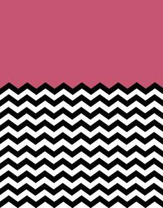 Colorblock Chevron Background in Deep Pink