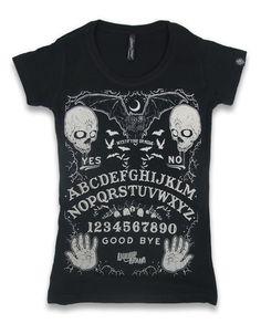 Liquor Brand Damen OUIJA T-Shirts.Oldschool,Tattoo,Pin up,Custom, Biker Style