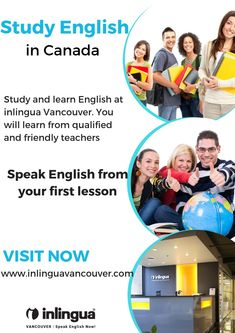 inlingua Vancouver's prices are very competitive. Students can choose how intensive they want their English course and their lessons to be. We offer General English, Academic English and Test preparation courses at inlingua Vancouver. English Study, Learn English, English Course, Test Preparation, Ielts, Vancouver, Have Fun, Canada, Teacher