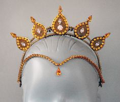 Gold La Bayadère Headpiece from Black Dog Designs. To follow more boards dedicated to dance photography, costuming, pas de deux, little ballerinas, quotes, pointe shoes, makeup and ballet feet follow me www.pinterest.com/carjhb. I also direct the Mogale Youth Ballet and if you'd like to be patron of our company and keep art alive in Africa, head over to www.facebook.com/mogaleballet like us and send me a message!