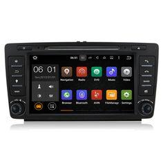 "8"" Quad Core Android 5.1 Car Stereo Audio Head Unit Autoradio Headunit for Skoda Octavia A5 Yeti 2009 2010 2011 2012 2013"