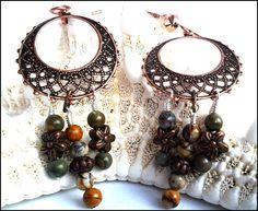 Red Creek Jasper Antiqued Copper Women's Earrings @ladygreeneyes