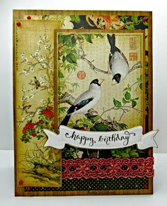 I'm a Little Teapot...: Quietfire and Graphic 45 Bird Song Birthday card