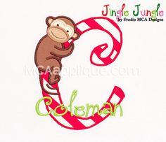 MCA Jingle Jungle Applique Alphabet - available A through Z (see next pin)