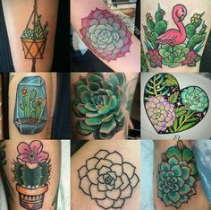 Just a little succulent ink inspo. Artists are tagged in photo. 😍😍😍 So many ideas. I have 2 tattoos in mind now. Just got to find the perfect style and tattooist (im in north brisbane, any recommendations please tag 😄) Tatto Love, Love Tattoos, Beautiful Tattoos, New Tattoos, Tattoos For Women, Tatoo Henna, Piercing Tattoo, Tattoo You, Piercings