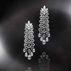 Diamond Earrings : NIRAV MODI – Jewelry Trends Network : Explore & Discover the best and the new trending Jewelry & Gems Around the world Long Diamond Earrings, Diamond Studs, Diamond Jewelry, Silver Earrings, Stud Earrings, Bridal Earrings, Pearl Jewelry, Silver Jewelry, Jewlery