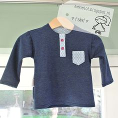 T-shirt baby, tricot, polosluiting http://kiekielot.blogspot.nl