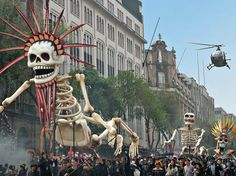 'Spectre' kicks off in Mexico City's Zócalo–a plaza steeped in history and lore, and now the center of one of the greatest Bond openings in history.