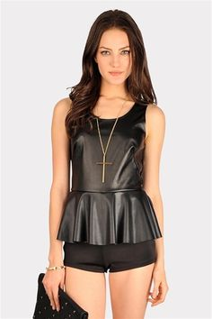 Nauty Or Nice Romper - Black