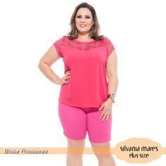 Blusa plus size pink <3 Corte a laser!